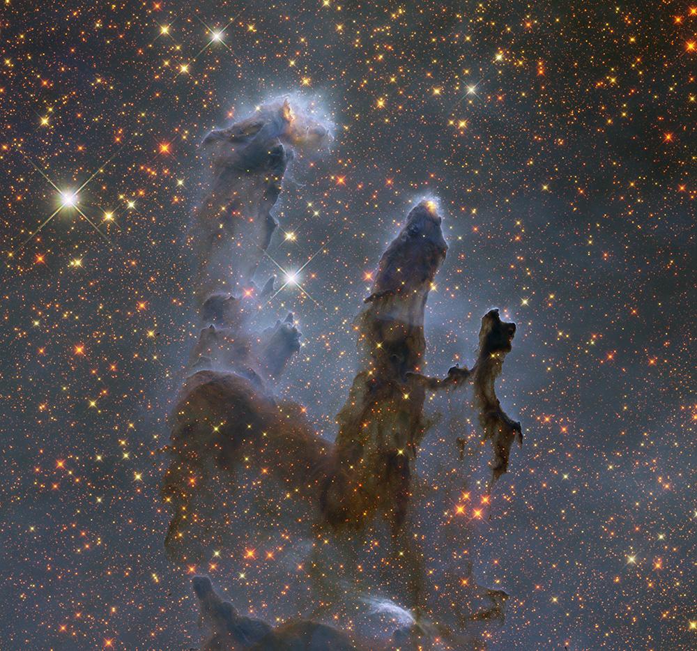 Geckzilla Com Art Hubble S Pillars Of Creation 2014